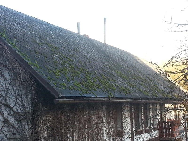 Renovace eternitové střechy - vyčištění a nátěr: 20150110_135029