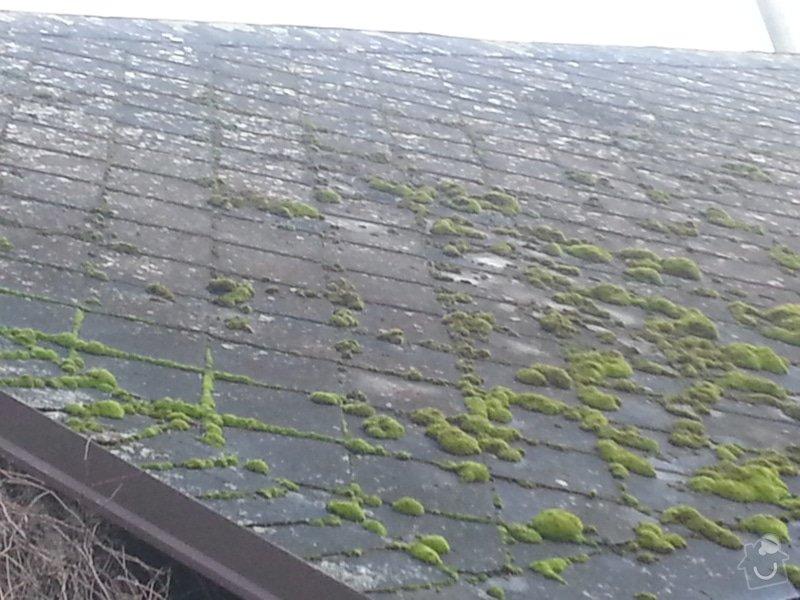 Renovace eternitové střechy - vyčištění a nátěr: 20150110_135124