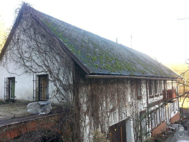 Renovace eternitové střechy - vyčištění a nátěr: 20150110_135137