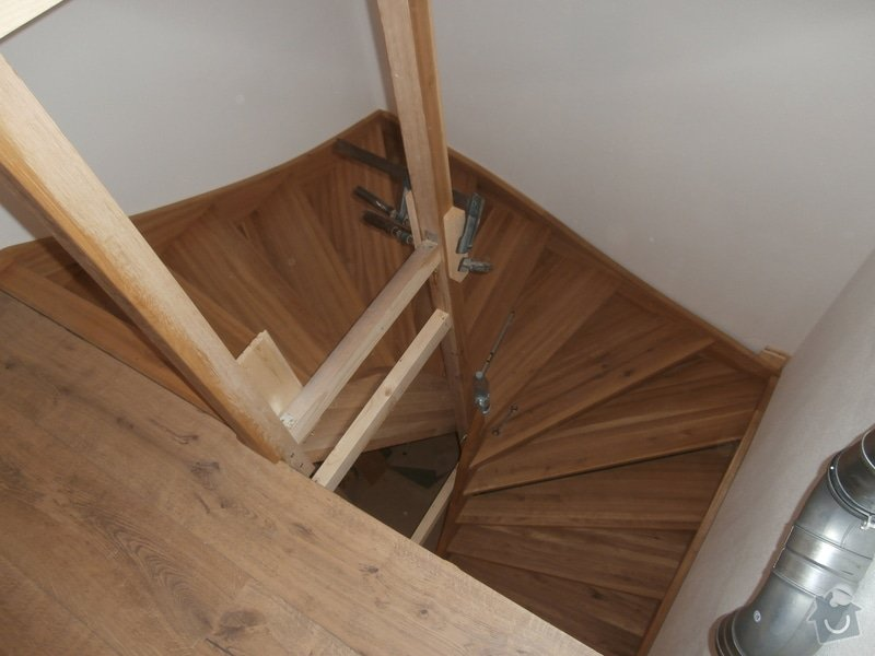 Truhlářské práce - schody dub: PB170436