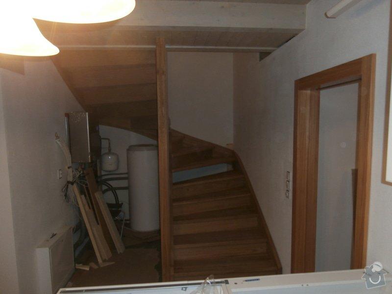 Truhlářské práce - schody dub: PB170440