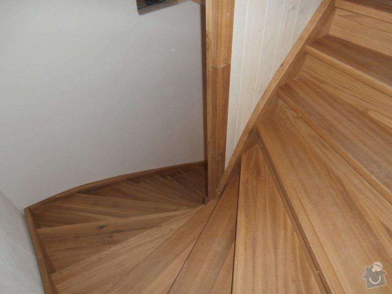 Truhlářské práce - schody dub: PB190450