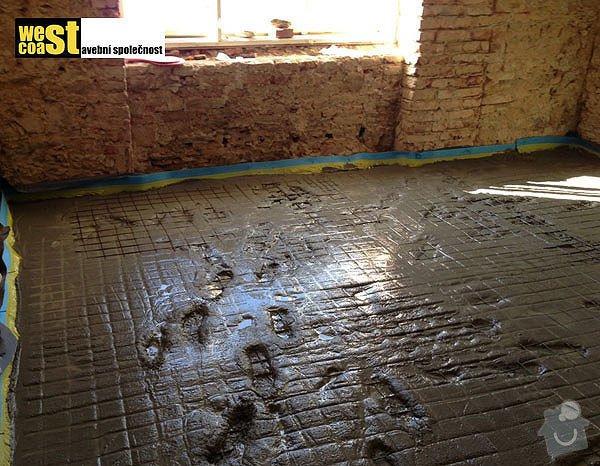 Kompetní vyzdění příček v RD: podlaha-6