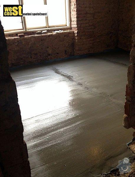Kompetní vyzdění příček v RD: podlaha-7