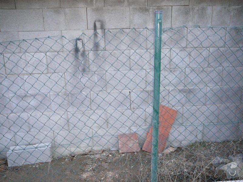 Oprava drátěného plotu: P1070797