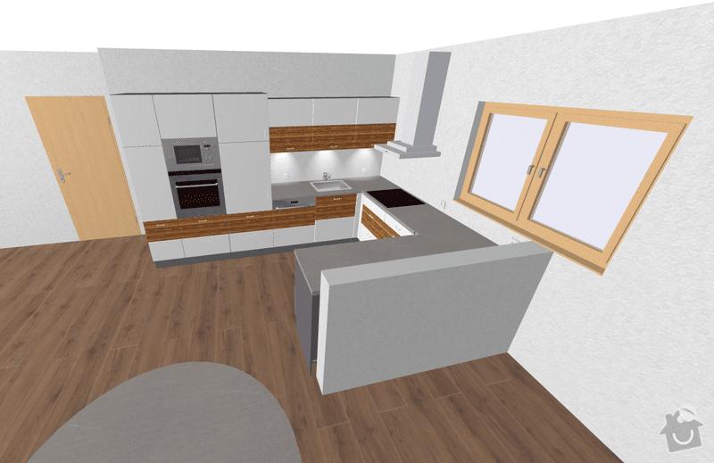 Kuchyňská linka: 3D_-_smer_drez