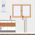 Kuchynska linka celni pohled   indukcni deska odsavani