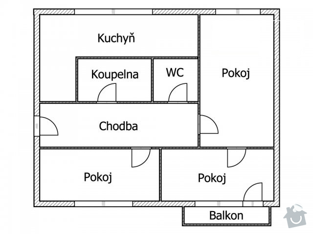 Kompletnu rekonstrukci 3+1, Trinec, Sosna 67m2, panel: byt