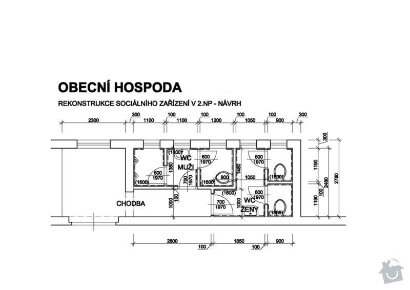 Rekonstrukce sociálního zařízení v obecní hospodě: PUDORYS_NOVY_STAV-1