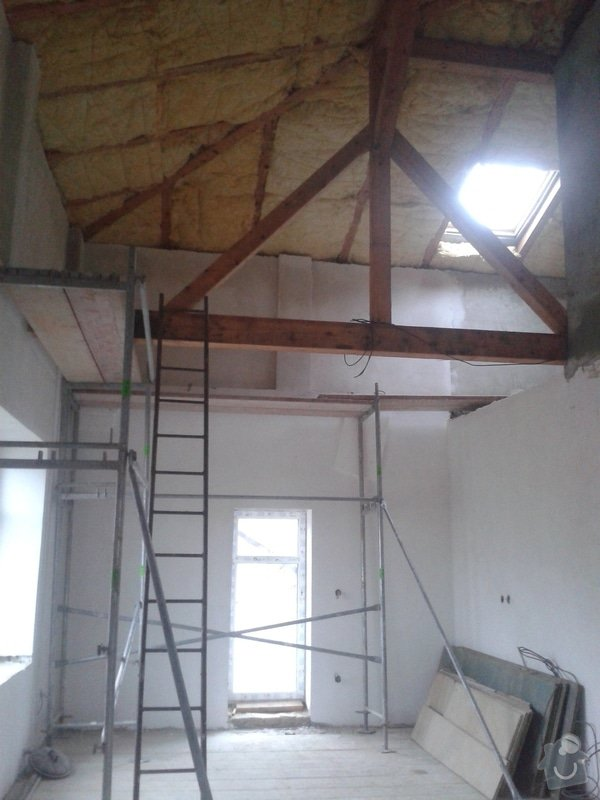 Sádrokartonářské práce - šikmá střecha: 20141109_151114