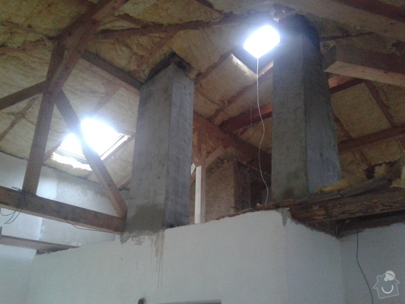 Sádrokartonářské práce - šikmá střecha: 20141109_151123