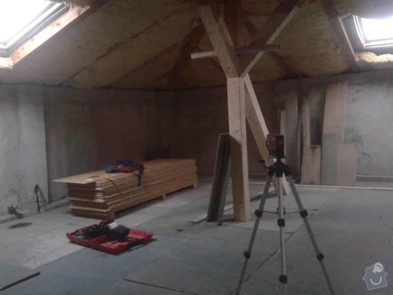 Sádrokartonářské práce - šikmá střecha: 20150101_151253