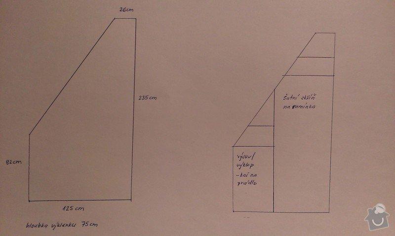 Výroba a montáž skříně pod schody + dětskou postýlku: IMAG0591