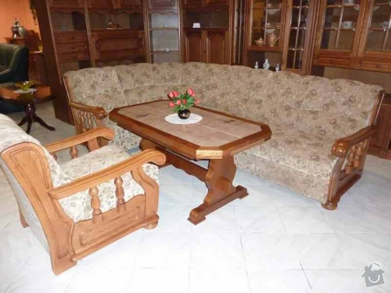 Renovace 5místné rustikální sedačky+1křesla: v_6687-1