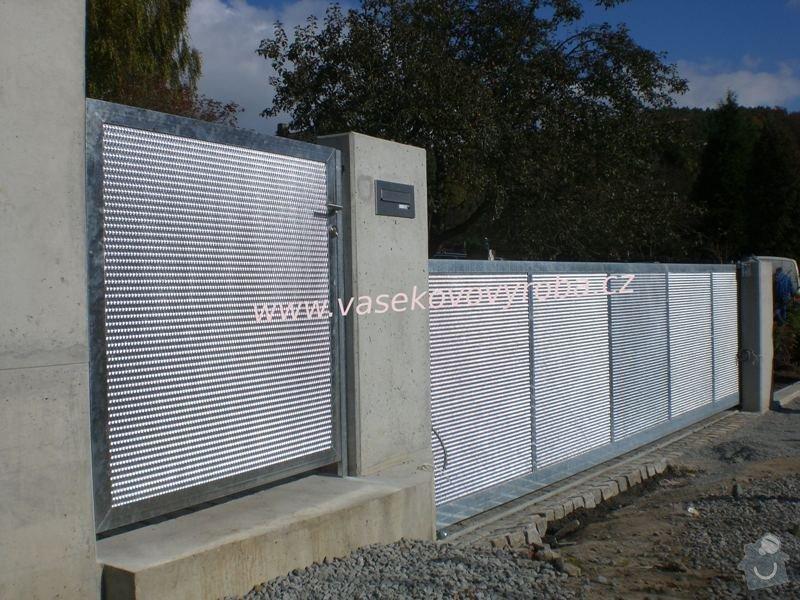 Plot k RD, betonové sloupky + tahokov + brána: IMG_0053
