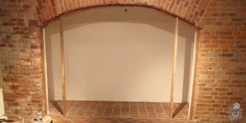 Odhlučnění stěny 11m2 + vestavěné police: stena1