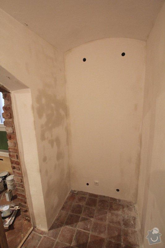 Odhlučnění stěny 11m2 + vestavěné police: stena_1