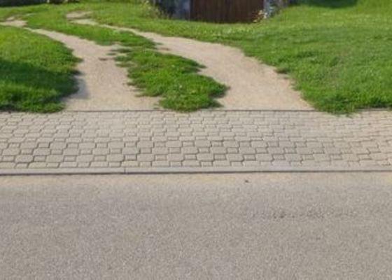 Úprava chodníku na vjezd - zámková dlažba