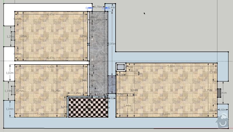 Renovace parket Palmovka - 54 m2: pudorys