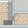 Renovace parket palmovka 54 m2 pudorys