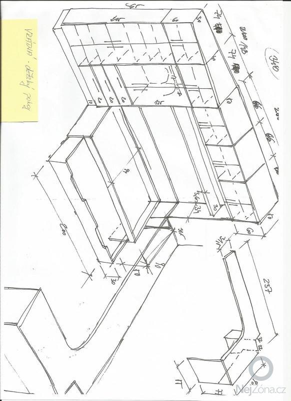 Truhlářská práce, dětský pokoj(vestavná skříň, postel a stůl): Scan0002