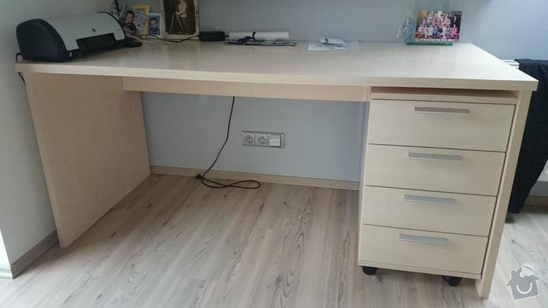Vestavěnou skříň a pracovní stůl: Stul_loznice