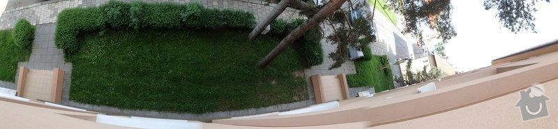 Oprava dlažby schodiště, rekonstrukce venkovních portálů - pokládka nové dlažby, renovace zídek: P5210003