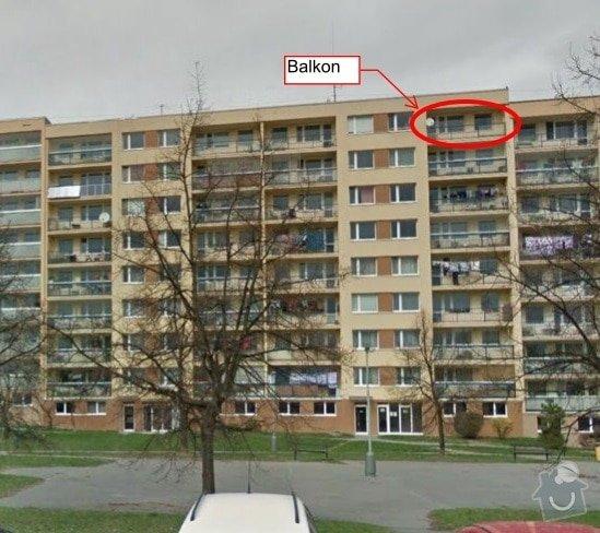 Zasklení balkonu: Balkon_Brandlova
