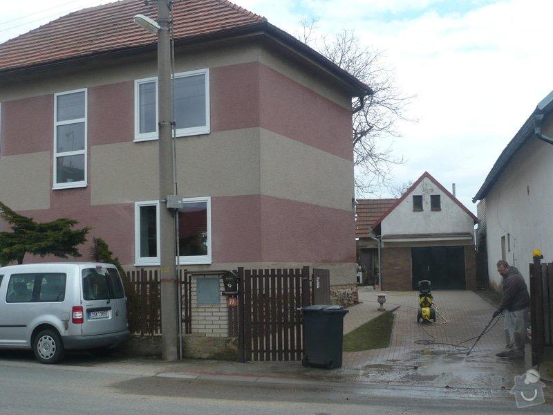 Zateplenou fasásu na starší jednopatrový dům. Zelená úsporám: P1090175