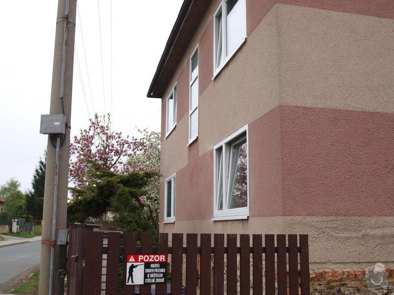 Zateplenou fasásu na starší jednopatrový dům. Zelená úsporám: P4283981