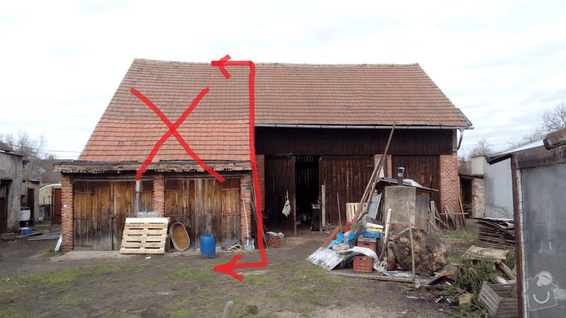 Demolice: stodola_nakres
