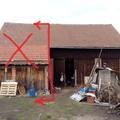 Demolice stodola nakres