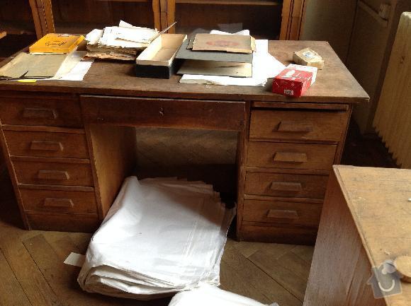 Renovace amerického psacího stolu: stul1