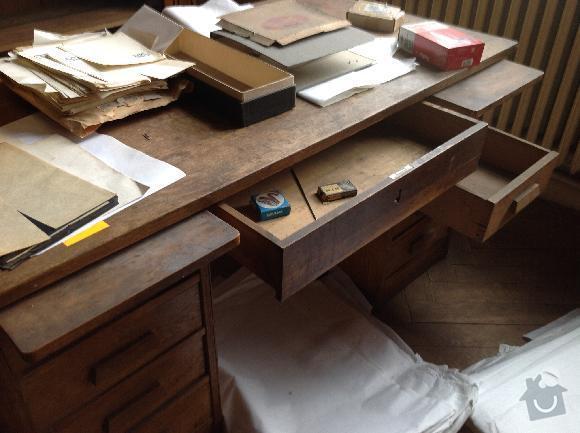 Renovace amerického psacího stolu: stul3