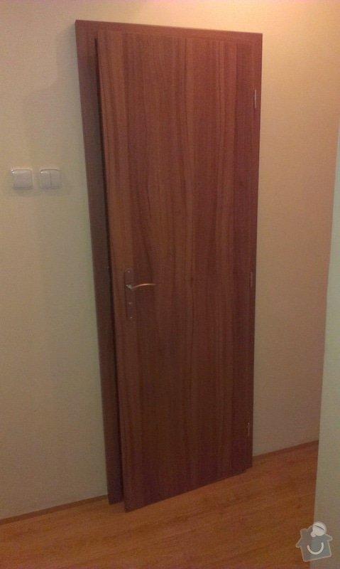 Dodávka a montáž vnitřních dveří  a obkladu ocelových zárubní-Praha 4 : IMAG1641