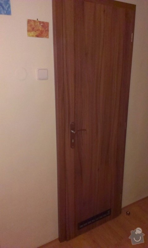 Dodávka a montáž vnitřních dveří  a obkladu ocelových zárubní-Praha 4 : IMAG1645