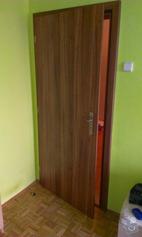 Dodávka a montáž vnitřních dveří  a obkladu ocelových zárubní-Praha 4 : IMAG1648
