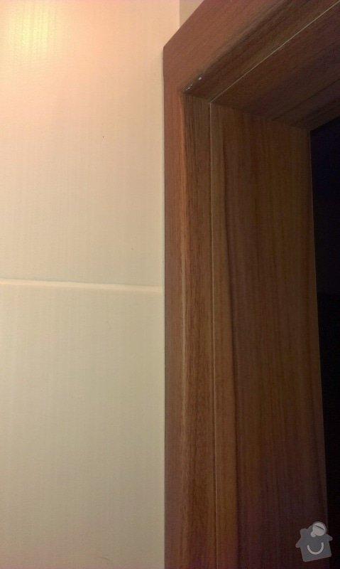 Dodávka a montáž vnitřních dveří  a obkladu ocelových zárubní-Praha 4 : IMAG1649