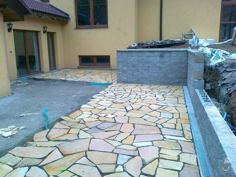 Pokládka přírodního kamene na terase: 13112014982