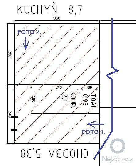 Prestavba bytoveho jadra: skica