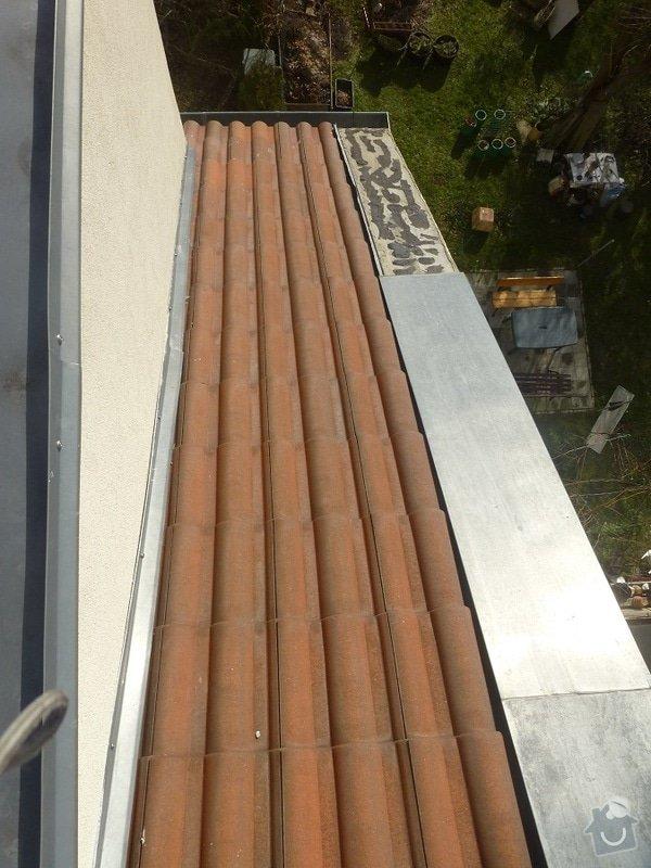 Připevnění střešního oplechování: P1060616