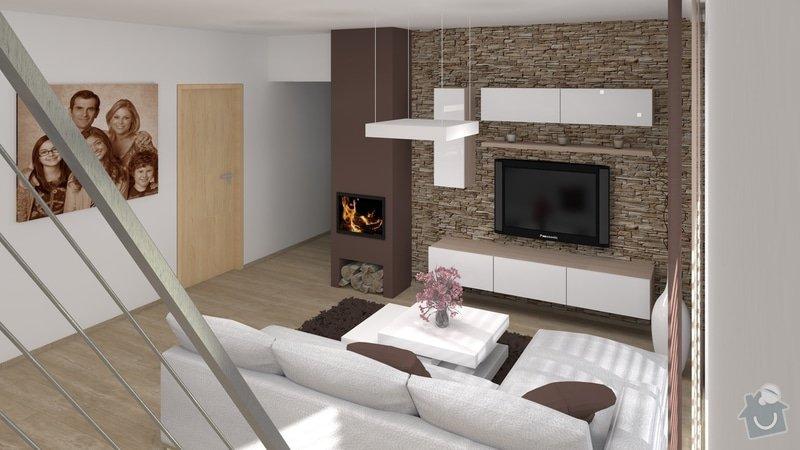 Úpravy rodinného domu - interiér i exteriér: 04_Karasova_-_obyvaci_pokoj