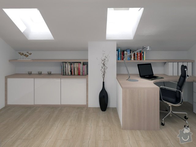 Úpravy rodinného domu - interiér i exteriér: 12_Karasova_-_pracovna