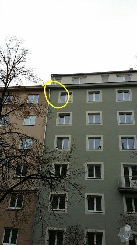 Oprava pláště domu - zátékání vody komínem a u okapu: 2015-01-22_20.44.00