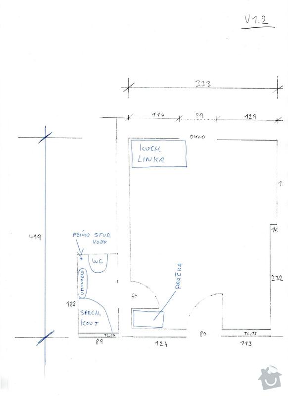 Rozvod vody v garsonce: instalater