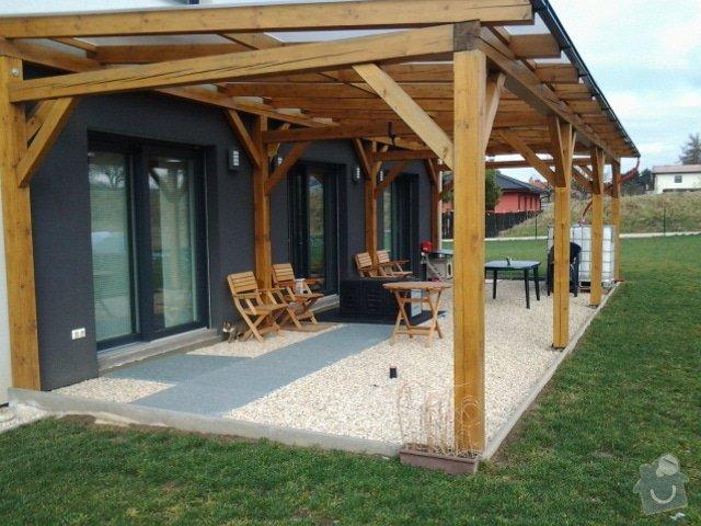 Výroba dřevěné terasy 50 m2: aktualni-stav