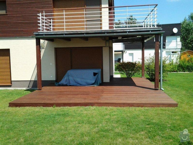 Výroba dřevěné terasy 50 m2: vzor1