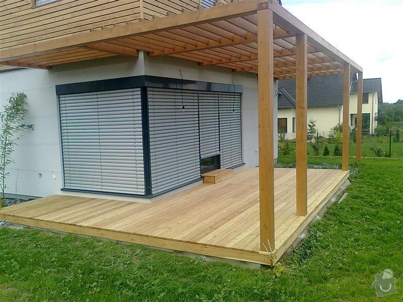 Výroba dřevěné terasy 50 m2: vzor2