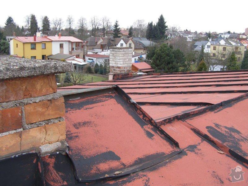 Natření střechy rodinného domu: P2052007