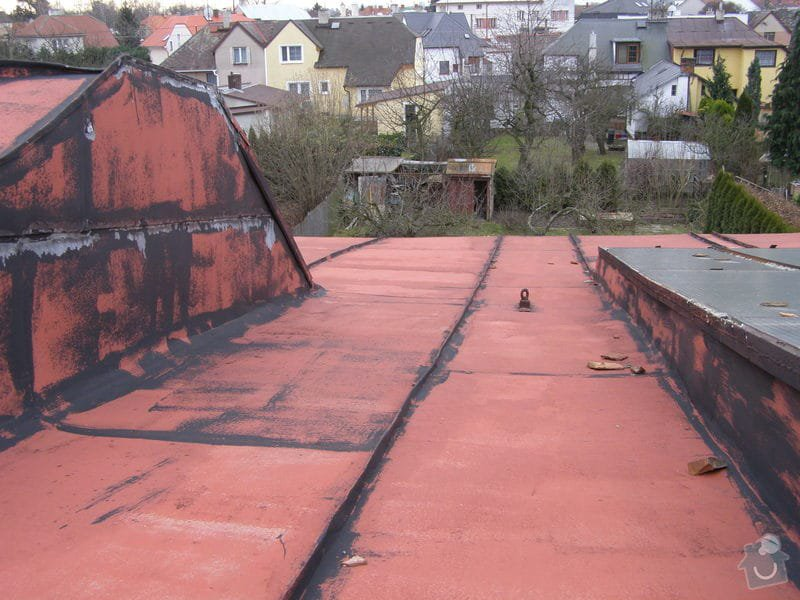 Natření střechy rodinného domu: P2052008